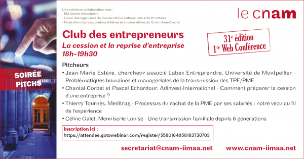 soiree pitch club entrepreneurs cnam