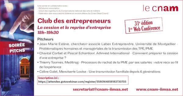 soiree pitch club entrepreneurs cnam